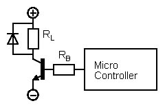 Transistor relay output